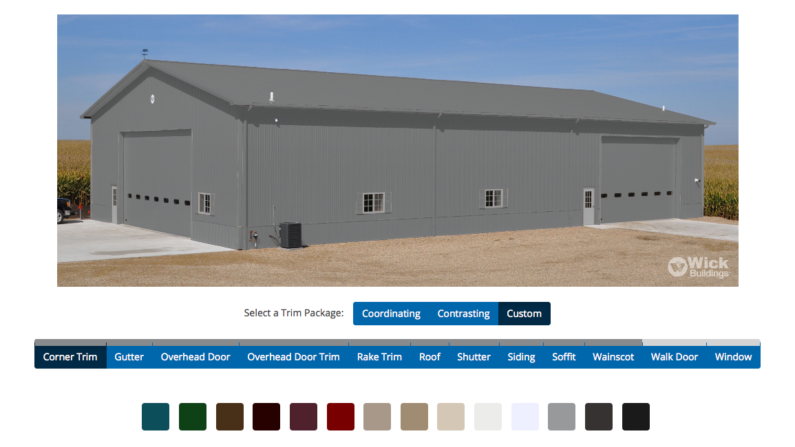 Color Selector and Building Design Tools